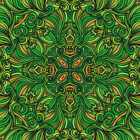victorian fashion: Squared ornamental floral paisley pattern. Good design for bandanna, carpet, shawl, pillow or cushion