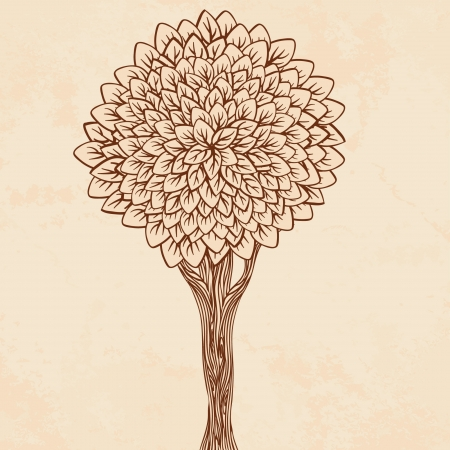 appletree: Vintage illustration of a tree