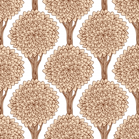 Seamless pattern with trees. Vector illustration  Vector