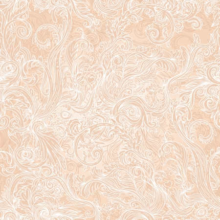 Seamless vintage background brown baroque pattern