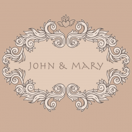 Beautiful floral invitation card design template. Vector illustration. Stock Vector - 24615890