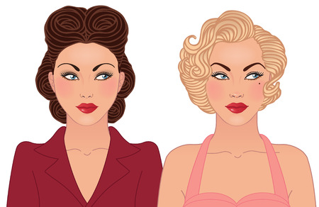 decades: Hairstyle and makeup of decades of the 20th century (1940-1950)
