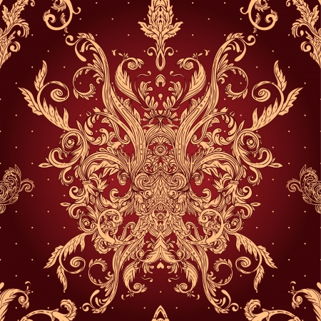 armorial: Vintage vector background ornate baroque pattern