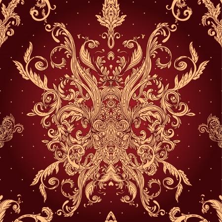 hanedan arması: Vintage vector background süslü barok model