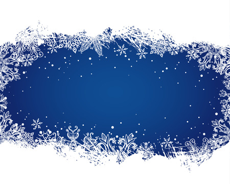Snowflakes Christmas and New Year background Vector