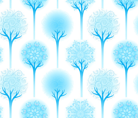 Seamless winter tree pattern vector illustration  Stock Vector - 24674852