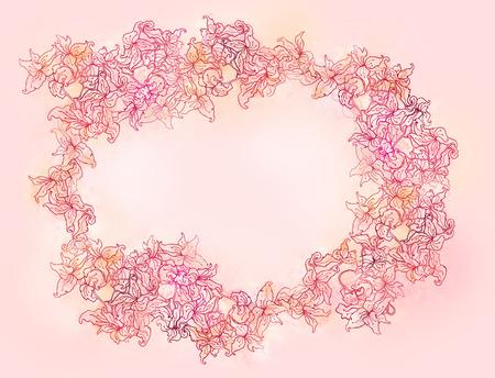 Stylish floral Valentines day background. Element for design. Vector illustration.  illustration