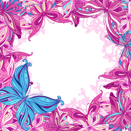 Stylish floral Valentines day background. Element for design. Vector illustration.  illustration