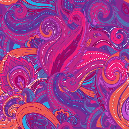 Kwadraat sier bloemen paisley patroon. Goed ontwerp voor bandana, tapijt, sjaal, kussen of kussen