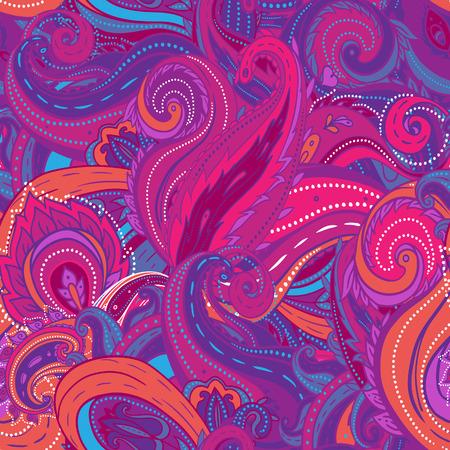 disegni cachemire: Squared ornamentale paisley floreale. Buona progettazione per bandana, moquette, scialle, cuscino o ammortizzatore