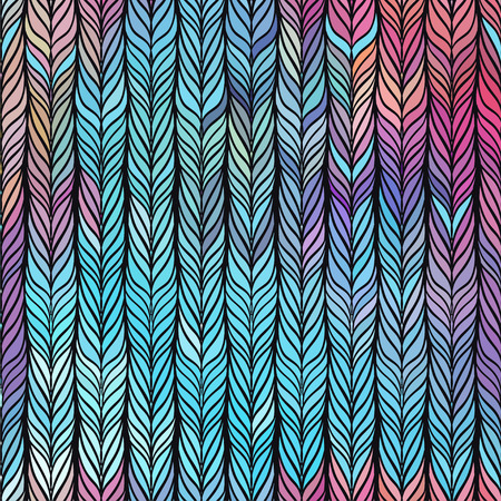 Optical illusion: Multicolor abstract seamless pattern. Texture of wavy vertical stripes. Stylish abstract background.