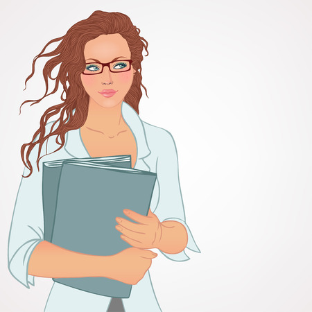 find staff: Human resources. Hiring manager is choosing the employee. Vector illustration. Illustration