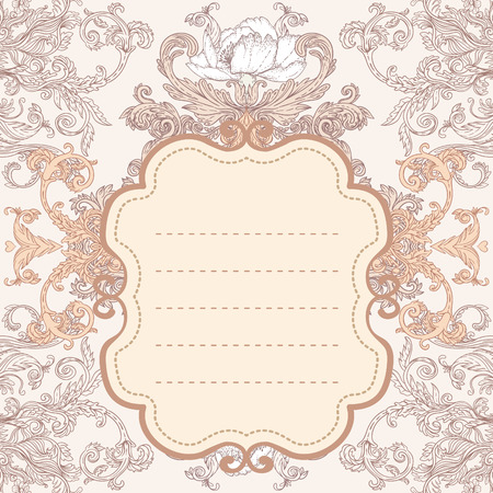Vintage background ornate baroque pattern, vector illustration Vector