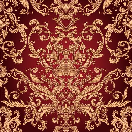 Vintage achtergrond sierlijke barok patroon, vector illustratie Stock Illustratie
