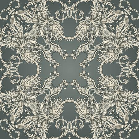 Vintage background ornate baroque pattern, vector illustration Stock Vector - 33592953