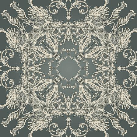 Vintage background ornate baroque pattern, vector illustration Vector