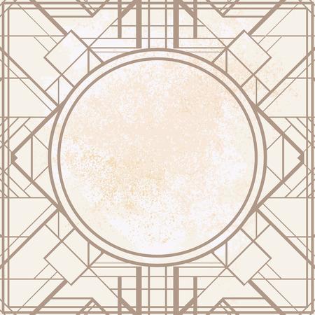 Dekoration: Weinlesehintergrund. Retro-Stil nahtlose Muster in Gold und Weiß. 1920 Illustration