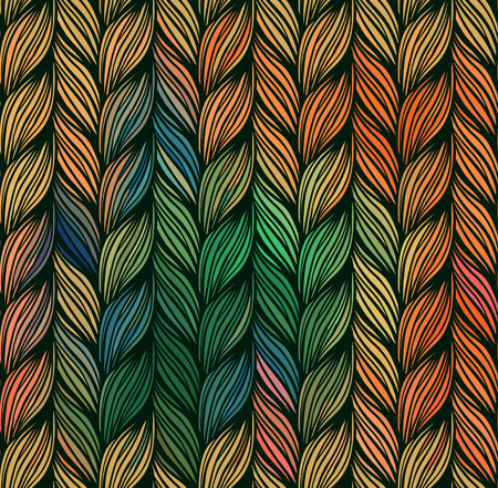 braids: Seamless pattern of braids. endless stylish texture Illustration