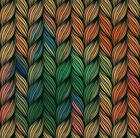 braids: Seamless pattern of braids. endless stylish texture Illustration