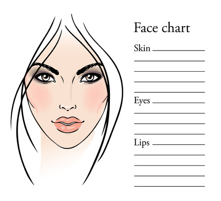 Face chart makeup artist blank template vector illustration face chart makeup artist blank template vector illustration stock vector 43027944 maxwellsz