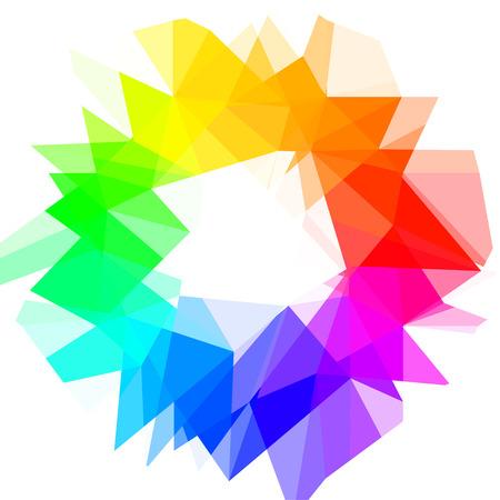 Creatieve kleurenwiel. Vector illustratie.