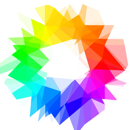 Creative Color Wheel. Vector illustration. Illustration