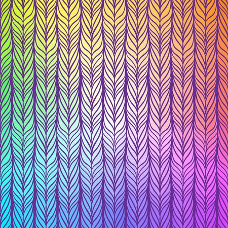 tress: Seamless pattern of braids. endless stylish texture Illustration