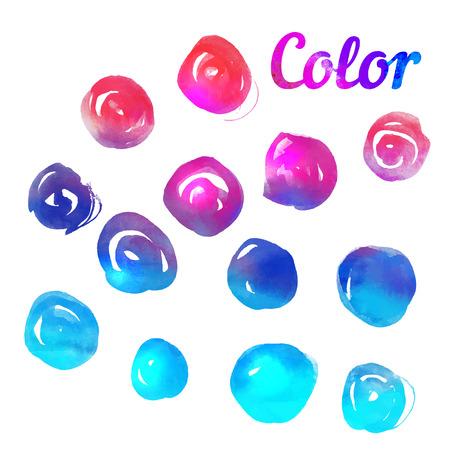 color spectrum: Handmade color wheel. Isolated watercolor spectrum. Vector illustration. Illustration