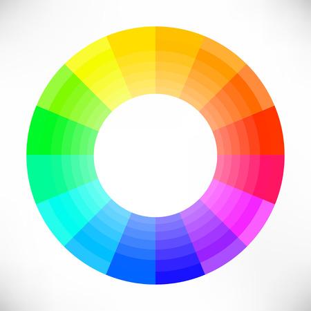 wheel: Creative Color Wheel. Vector illustration. Illustration