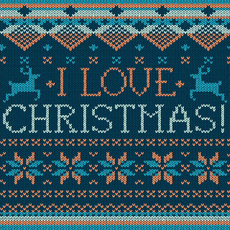scandinavian christmas: Christmas: Scandinavian style seamless knitted pattern with deers