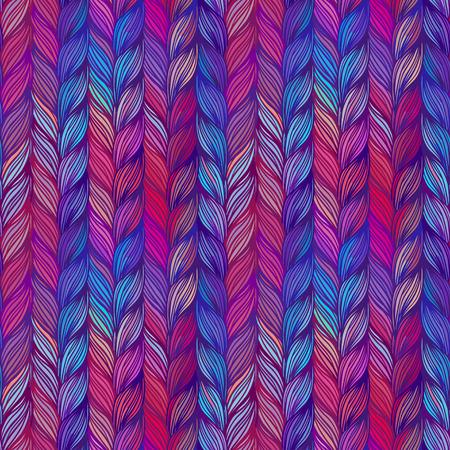 Seamless pattern of braids. endless stylish texture Illustration