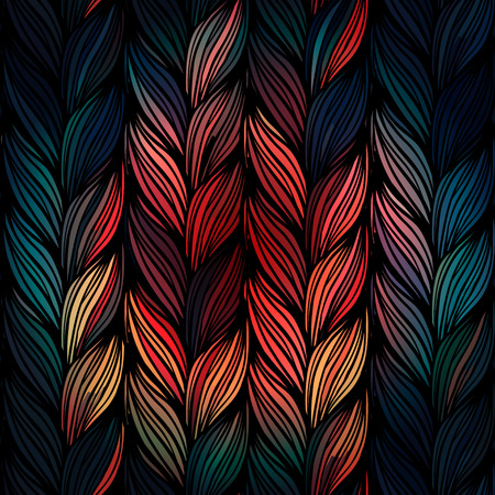 interweaving: Seamless pattern of braids. endless stylish texture Illustration