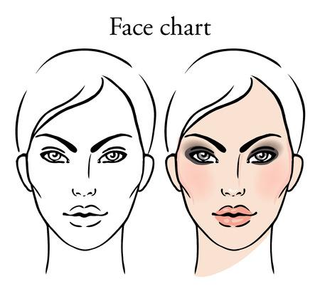 tableau de Maquillage Artiste Blank. Template. Vector illustration.