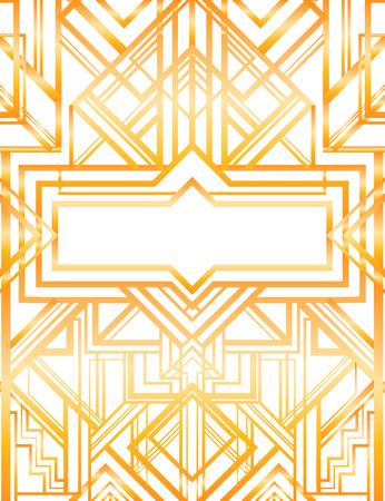 빈티지 배경입니다. 골드와 화이트 복고 스타일 원활한 패턴입니다. 1920 년대
