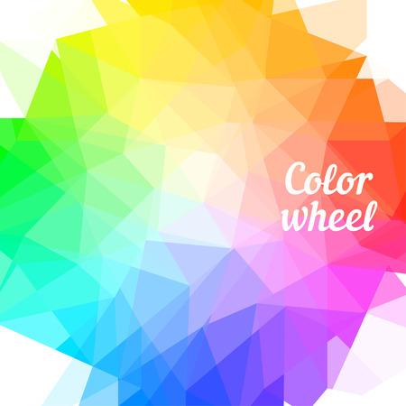 to polygons: Rueda de color de Creative. Ilustración del vector.