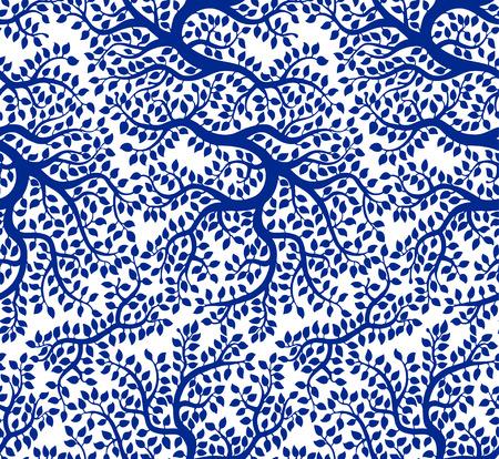 Autumn apple tree seamless pattern Illustration
