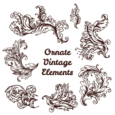 crest with vintage style design elements, use for frame, vector format very easy to edit, individual objects