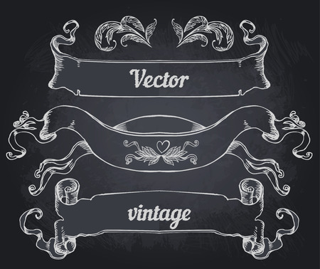 vintage frame vector: crest with vintage style design elements, use for frame, vector format very easy to edit, individual objects