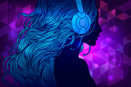 party dj: Disco Party. Ilustraci�n del vector.
