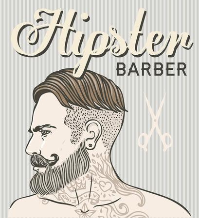 Hipster Barber Shop Carte De Visite Modle Conception Vector