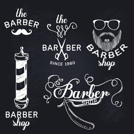 Hipster barber shop business card design template vector hipster barber shop business card design template vector illustration stock vector 43448457 friedricerecipe Image collections