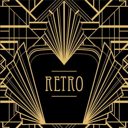 thirties: Art deco geometric pattern (1920s style) Illustration