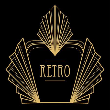 dekoration: Art-Deco-geometrisches Muster (Stil der 1920er)