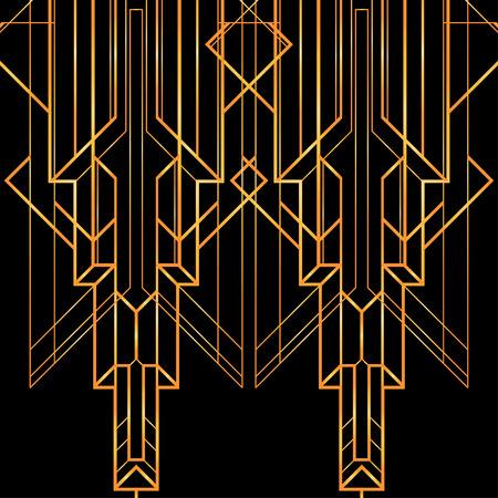 Art deco geometric pattern (1920s style) Ilustração