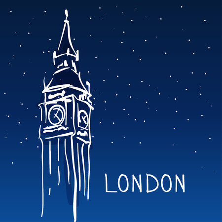 london night: World famous landmark series: Big Ben, London, England