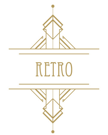 30s: Art deco geometric pattern (1920s style) Illustration