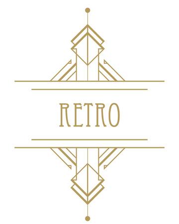 Art deco geometrisch patroon (1920's stijl) Stockfoto - 43572593