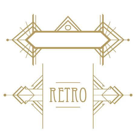 poster art: Art deco geometric pattern (1920s style) Illustration