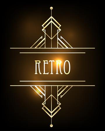 party design: Art deco geometric pattern (1920s style) Illustration