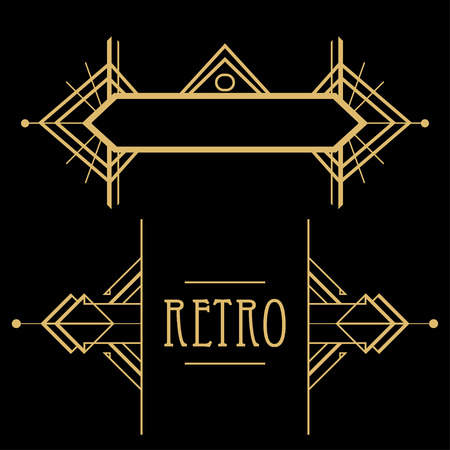art deco background: Art deco geometric pattern (1920s style) Illustration